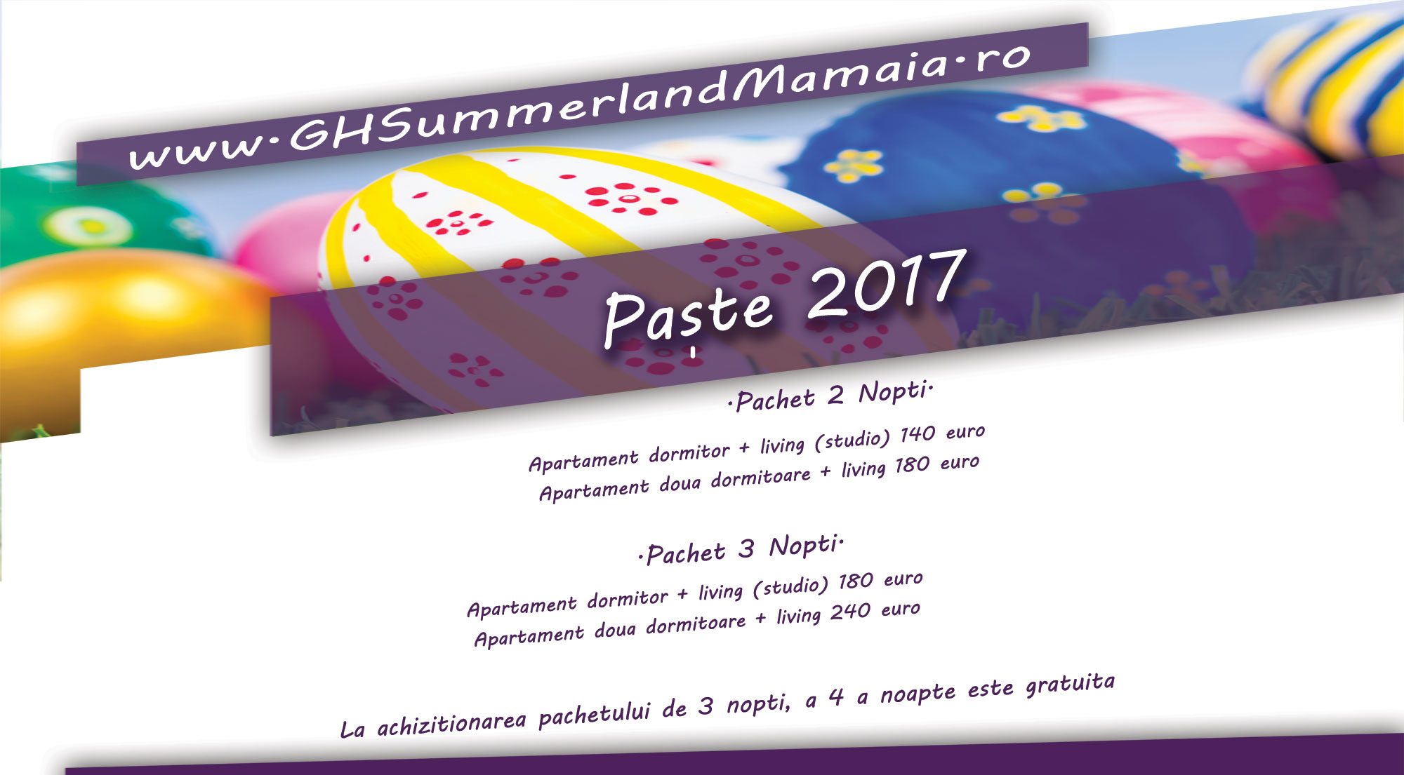 Oferta Paste 2017 Summerland Mamaia
